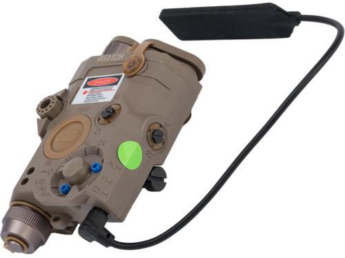 Element Dummy PEQ-15 LA-5C Illuminator w/ Flashlight, Visible and IR Laser (Color: Dark Earth / Green Laser)