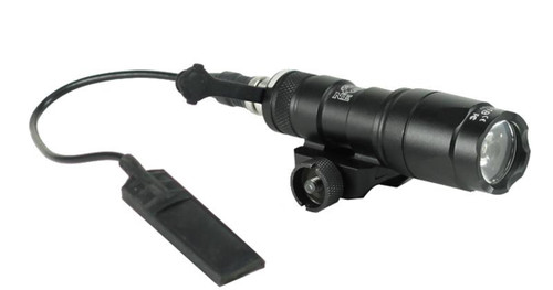 Bravo Airsoft Mini Tactical Flashlight with Pressure Pad and Mount - Black