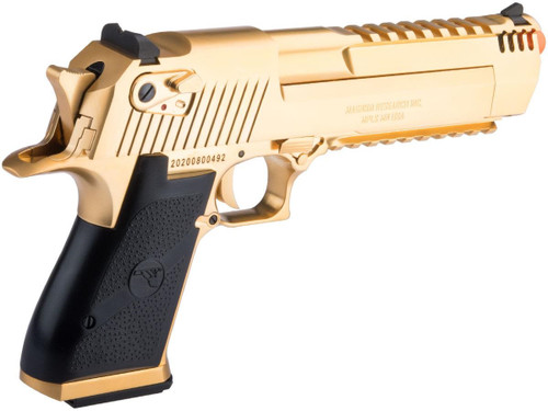 esert Eagle Licensed L6 .50AE Full Metal Gas Blowback Airsoft Pistol by Cybergun (Color: Gold Electroplated / Gun Only)