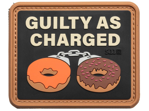 """5.11 Tactical """"Guilty as Charged"""" Hook & Loop PVC Morale Patch"""