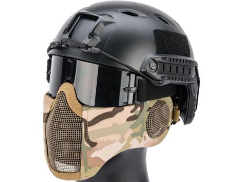 Matrix Carbon Striker Mesh Mask w/ Integrated Mesh Ear Protection (Color: Camo)
