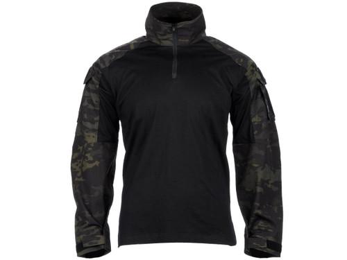 EmersonGear Blue Label 1/4 Zip Tactical Combat Shirt (Color: Multicam Black / XX-Large)