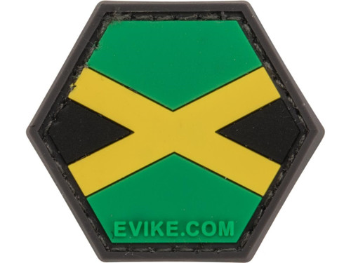 """""""Operator Profile PVC Hex Patch"""" Flag Series (Country: Jamaica)"""