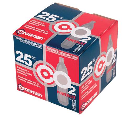 Crosman 12g CO2 Powerlet Cartridges (Pack: Box of 25)