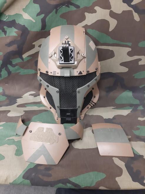 Wosport Medieval Iron Warrior Mesh Mask - USED