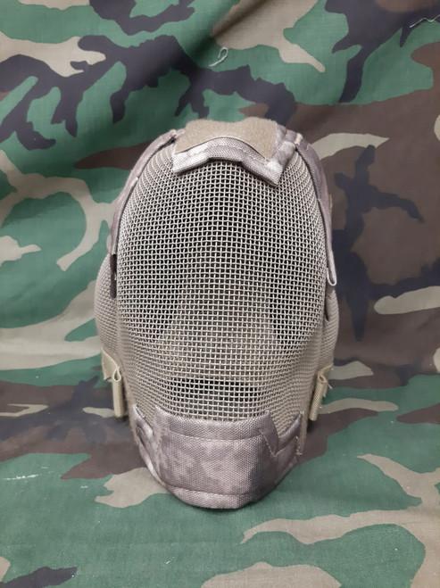 "Matrix ""Striker Helmet"" Full Face Carbon Steel Mesh - Arid Camo - Floor Model"