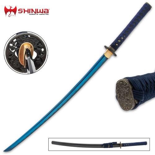 Shinwa Blue Majesty Samurai Sword And Scabbard