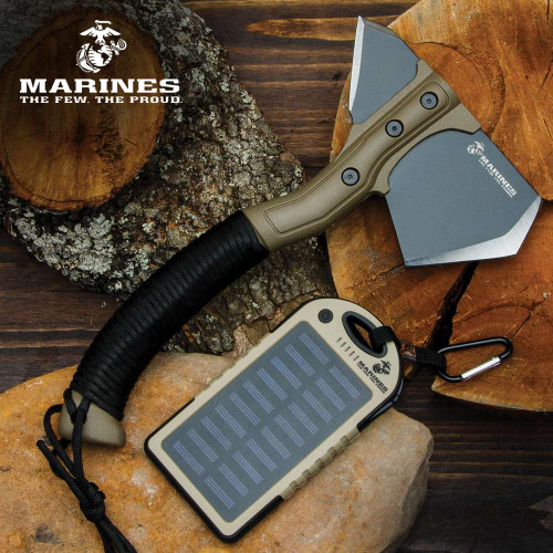 USMC Utility Kit - Includes Solar Charger And Field Axe