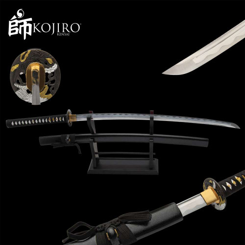 Kojiro Golden Dragon Katana And Scabbard - 1045 Carbon Steel Blade