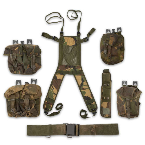 Great Britain Military Surplus Harness And Gear Bag Set