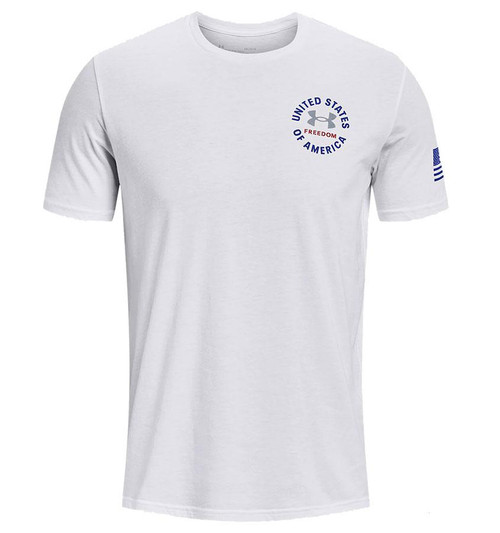 """Under Armour Men's UA Freedom """"Freedom USA"""" T-Shirt (Color: White / X-Large)"""