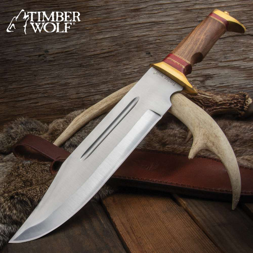 Timber Wolf Canberra Bowie Knife And Sheath
