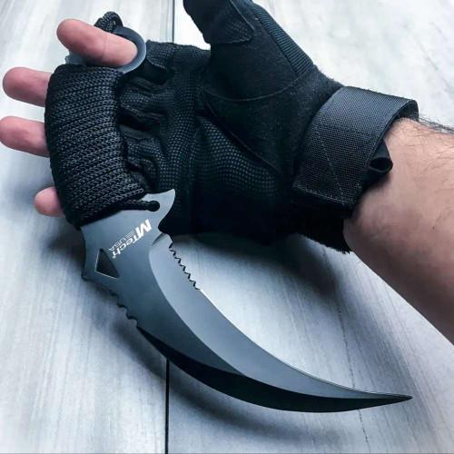 "10"" Tactical Combat Karambit Knife Survival Hunting Fixed Blade w/Sheath"