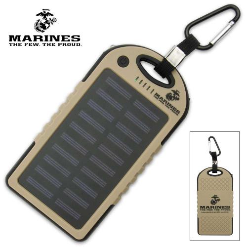 USMC 8,000 MAH Solar Charger And Power Bank