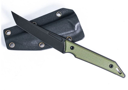 Hoback Goliath Pocket Fixed Blade CPM-20CV Black Stonewash - OD G10