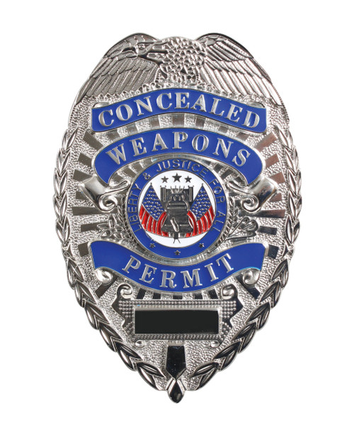 """Deluxe """"Concealed Weapons Permit"""" Badge"""