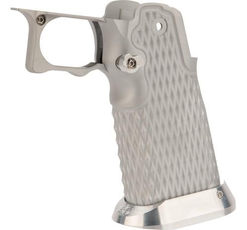 Airsoft Masterpiece Aluminum Grip Type 9 for Tokyo Marui Hi-Capa Airsoft Pistols (Color: Silver)