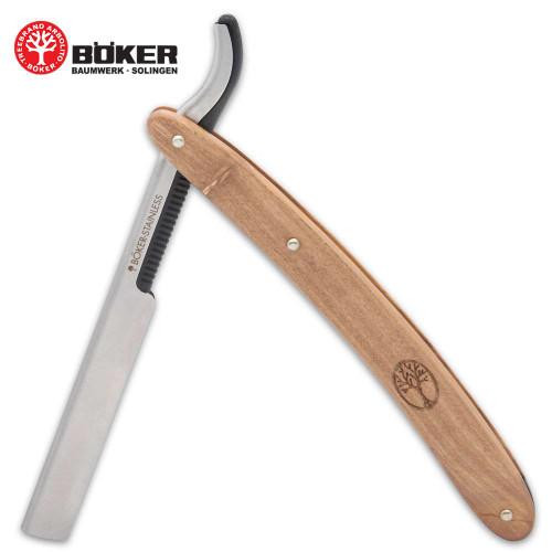 Boker Barberette Olive Wood Razor Blade Holder