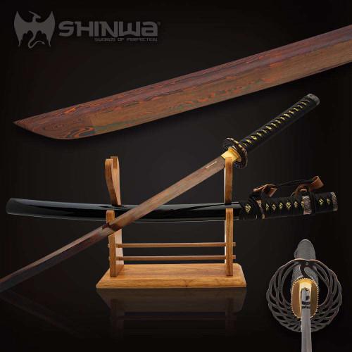 Shinwa Ebony Tachi Sword And Scabbard
