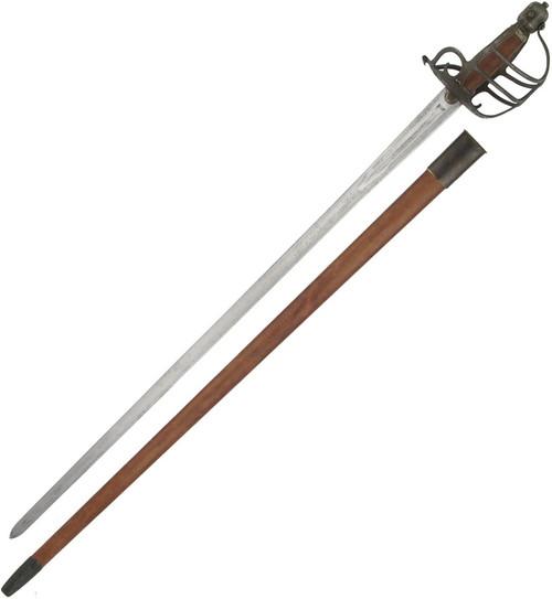 Mortuary Hilt Sword Antiqued