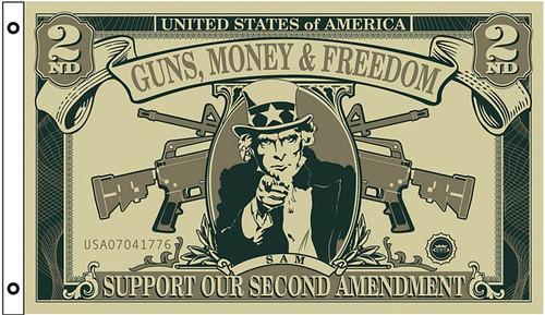 Guns Freedom Dollar Flag