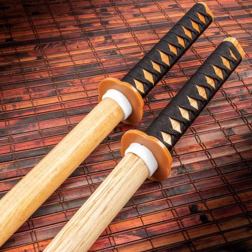 Natural Wood Daito Bokken Katanas Training Set