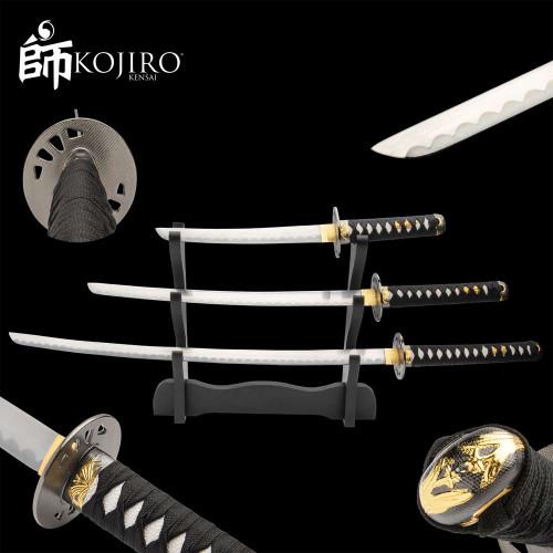 Kojiro Midnight Hand-Forged Katana Set And Stand