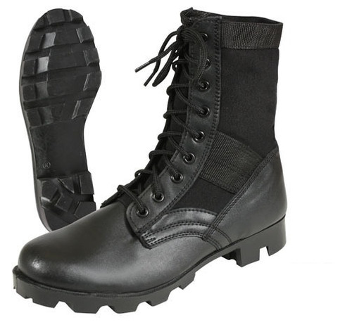 U.S. Armed Forces Black Jungle Boot  - 13.5 Extra Wide New
