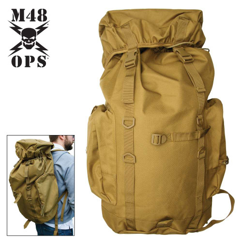 M48 Coyote Brown 45L Tactical Back Pack
