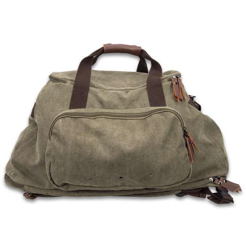 Outback Series Green Duffle Backpack