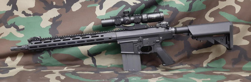 G&G Knight's Armament Licensed SR25 Airsoft AEG Rifle w/ M-LOK Handguard and G2 Gearbox - USED