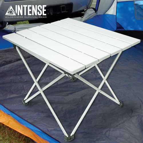 Intense Ultra-Light Folding Camping Table With Bag
