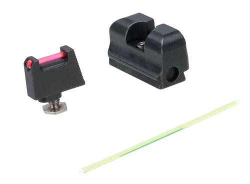 Taran Tactical Innovations Ultimate Fiber Optic Sight Set for GLOCK RMR Cut Pistols (Model: Co-Witness Height)