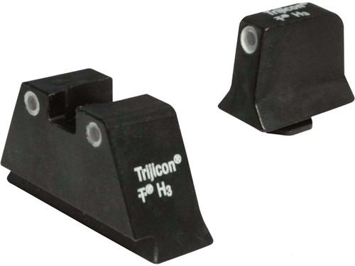 Trijicon Bright & Tough Suppressor Height Tritium Front & Rear 3 Dot Night Sights (Model: Green / GLOCK 20, 21, 29, 30, 41)