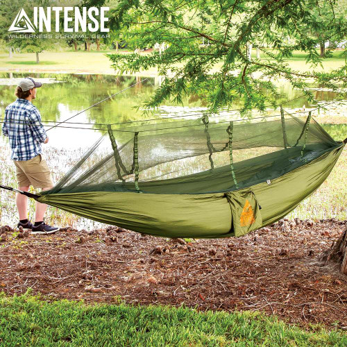 Intense Mosquito Net Covered Hammock Travel Bed