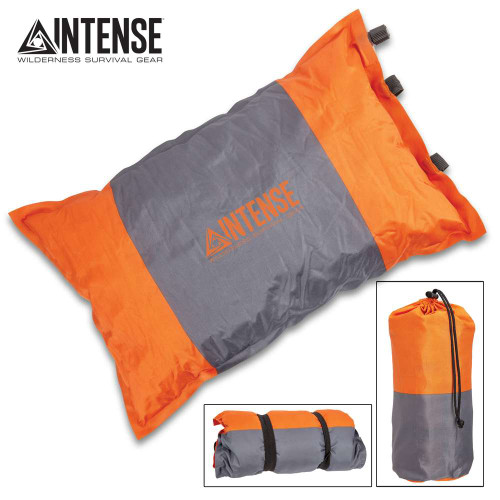 Intense Self-Inflating Camping Pillow With Carry Bag