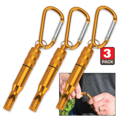 Trailblazer Emergency Whistle With Carabiner - Pack Of Three