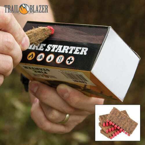 Trailblazer Fire Starter Sticks with Match Heads - 40-Pack