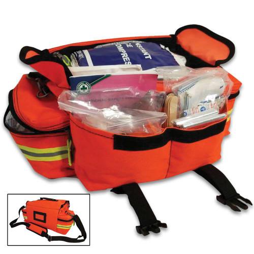Elite Pro II Orange Trauma Bag - 268 First Aid Items