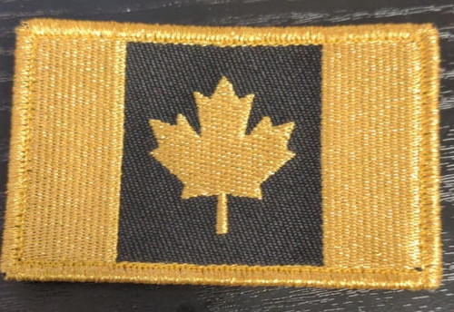 Canadian Flag Morale Patch -Gold