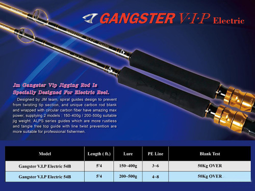 Jigging Master Gangster VIP Electric Reel Special Fishing Rod