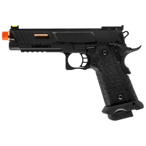 Valken BY HICAPA CO2 Blowback Airsoft Pistol - Black