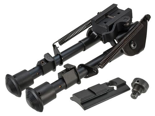 All-Platform Real Steel Retractable Harris Type Bipod (RIS + Stud Sniper Mount)
