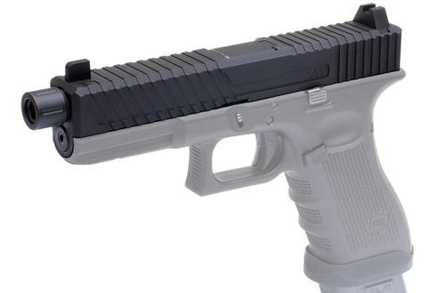 JagerWerks Licensed F9 Slide Set for GLOCK 17 Gen.4 Series GBB Pistols (Color: Black)