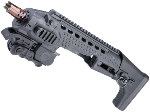 APS Action Combat Carbine Conversion Kit for APS XTP and Shark Full-Auto Airsoft Pistols (Color: Black)
