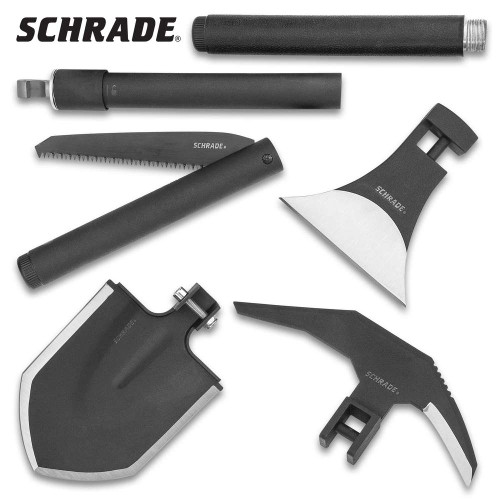 Schrade Six-Piece Outdoor Kit With Polyester Case