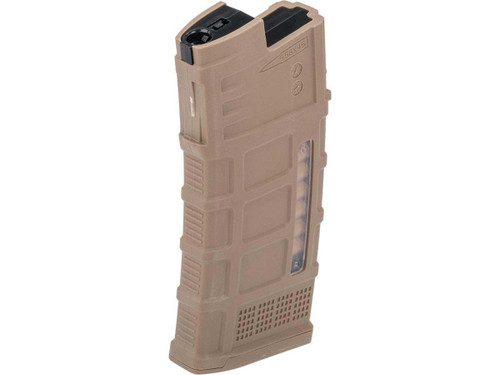 Avengers Polymer Magazine for AUG Series Airsoft AEG Rifles (Color: Tan / 120rd Mid-Cap)
