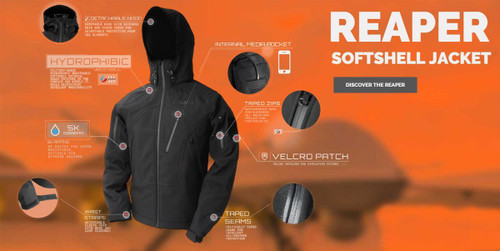 EMG Reaper Softshell Jacket - Black