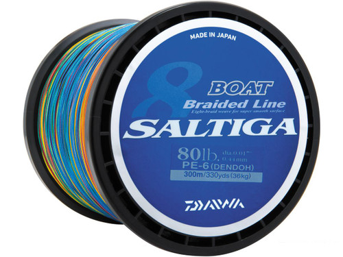 Daiwa Saltiga Boat Braided Line for Dendoh Style Fishing (Weight: 55 Pounds / 330 yards)