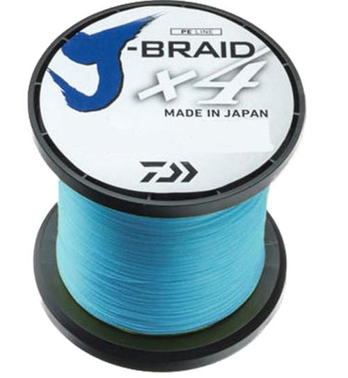 Daiwa J-Braid x4 Braided Fishing Line (Color: Island Blue)
